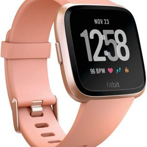 Fitbit Versa Health & Fitness Smartwatch with Heart Rate, Music & Swim Tracking. peach